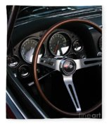 1965 Corvette Roadster Dash Fleece Blanket