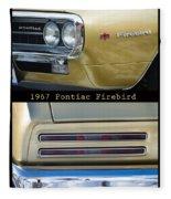 1967 Bronze Pontiac Firebird  Poster S Fleece Blanket