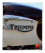 1967 Triumph Bonneville Gas Tank 1 Fleece Blanket