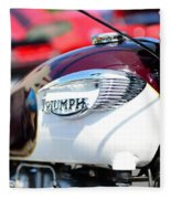 1967 Triumph Gas Tank 3 Fleece Blanket