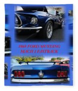 1969 Ford Mustang Mach 1 Fastback Fleece Blanket