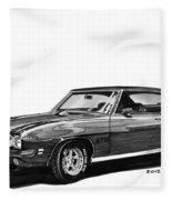 1971 Pontiac G T O Fleece Blanket