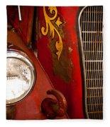 1941 Hahn Open Cab Fire Engine Fleece Blanket