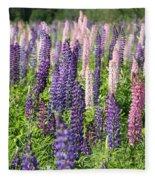 A Field Of Lupins Fleece Blanket