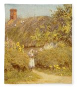 A Surrey Cottage Fleece Blanket