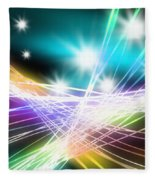 Abstract Of Stage Concert Lighting Fleece Blanket
