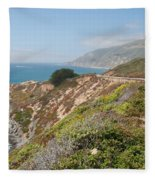Along Big Sur Fleece Blanket