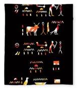 Ancient Egyptian Hieroglyphs Fleece Blanket