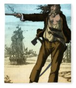 Anne Bonny, 18th Century Pirate Fleece Blanket