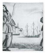 Anne Bonny And Mary Read, 18th Century Fleece Blanket