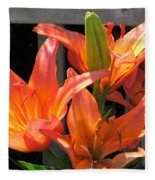 Asiatic Lily Named Gran Paradiso Fleece Blanket
