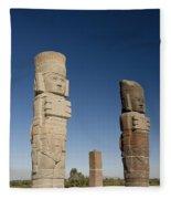 Atlantes Warrior Statues Fleece Blanket