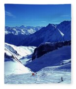 Austria Mountain Fleece Blanket