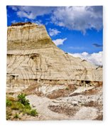 Badlands In Alberta Fleece Blanket