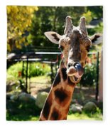 Baringo Giraffe Fleece Blanket