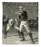 Baseball, 1888 Fleece Blanket