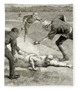 Baseball Game, 1885 Fleece Blanket