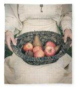 Basket With Fruits Fleece Blanket