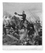 Battle Of Spotsylvania Fleece Blanket