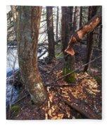 Beaver Marks Fleece Blanket