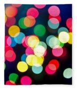 Blurred Christmas Lights Fleece Blanket