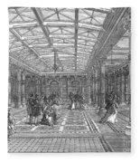 Brighton Aquarium, 1872 Fleece Blanket