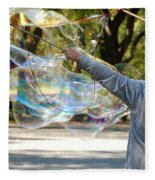 Bubble Boy Of Central Park Fleece Blanket