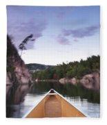 Canoeing In Ontario Provincial Park Fleece Blanket