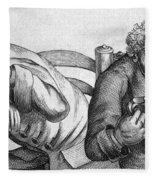 Caricature Of Two Alcoholics, 1773 Fleece Blanket