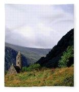 Chapel Of Saint Kevin At Glendalough Fleece Blanket