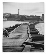 Civil War: Pontoon Bridge Fleece Blanket
