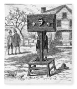 Colonial Pillory - To License For Professional Use Visit Granger.com Fleece Blanket