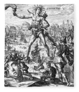 Colossus Of Rhodes Fleece Blanket