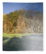 Composite Of Fall And Winter Fleece Blanket