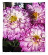 Dahlia Named Pink Bells Fleece Blanket