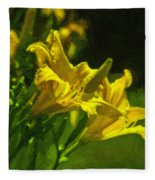 Daylilies Fleece Blanket