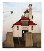 Duluth Mn Lighthouse Fleece Blanket