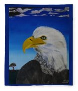 Eagle At Dusk Fleece Blanket
