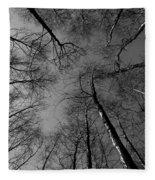 Epping Forest Trees Fleece Blanket