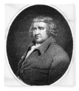 Erasmus Darwin, English Polymath Fleece Blanket