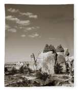 Fairy Chimney In Goreme Fleece Blanket