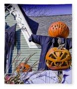 Fall  Halloween On Tillson Street Fleece Blanket