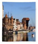 Gdansk In Poland Fleece Blanket
