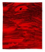 Gentle Giant In Negative Red Fleece Blanket