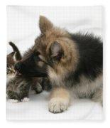 German Shepherd Puppy Fleece Blanket
