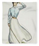 Gibson Girl, 1899 Fleece Blanket