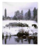 Glendalough, Co Wicklow, Ireland Fleece Blanket