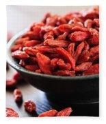 Goji Berries Fleece Blanket