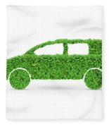 Green Car Fleece Blanket