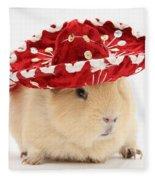 Guinea Pig Wearing A Hat Fleece Blanket